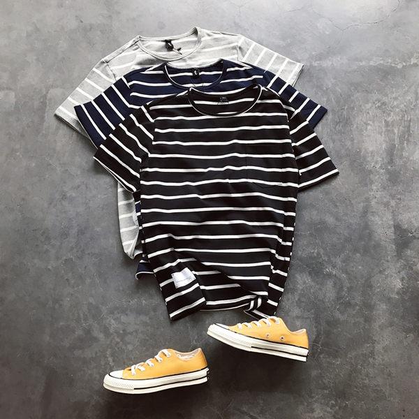 t恤男裝日繫流行條紋短袖韓版