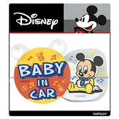 【愛車族】米奇後窗搖擺警示牌-BABY IN CAR