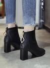 短靴女粗跟英倫風2019秋款高跟馬丁靴冬季加絨靴子瘦瘦靴網紅單靴