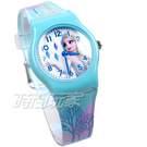 Disney 迪士尼 日本機芯 冰雪奇緣 艾莎公主 女王 安娜公主 兒童手錶 橡膠 女錶 藍色 FZ-3306藍小