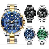 【美國熊】 日本石英機心 真三眼計時 日期顯示 tevise水鬼運動風格腕錶 附鐵盒[WNTE-95]