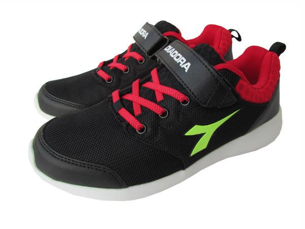 『雙惠鞋櫃』◆DIADORA迪亞多那◆大童款 輕量 耐磨 康特杯 夜光底運動慢跑鞋 ◆ (DA3850) 黑
