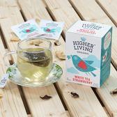 英國 Higher Living 有機 茶包 草莓白茶 20包/盒