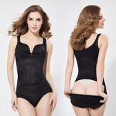 塑身衣女 束腹褲無痕吊帶後脫式連體收腹收腰塑身連體衣產後保養 美體衣《小師妹》yf1235