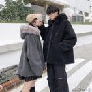 羊羔毛外套男韓版寬鬆潮流百搭情侶棉衣2019新款冬季加絨加厚棉服 瑪奇哈朵