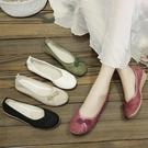 媽媽鞋 妙江南民族風女鞋老北京布鞋女繡花鞋漢服舞蹈媽媽鞋單鞋復古鞋子