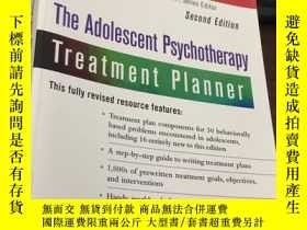 二手書博民逛書店The罕見Adolescent Psycho Treatment