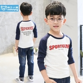 童裝兒童秋裝男童t恤衛衣長袖打底衫小衫中大童上衣2019新款韓版