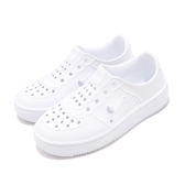 Nike 休閒鞋 Foam Force 1 PS 白 全白 Air Force 免綁鞋帶 氣孔設計 童鞋 中童鞋【PUMP306】 AT5243-100
