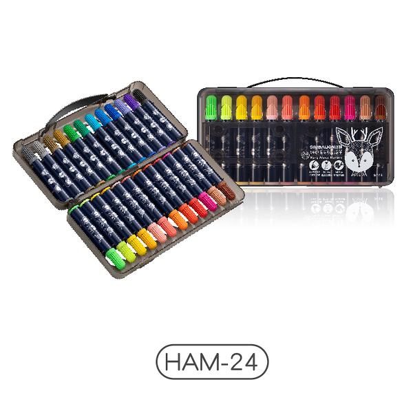 【雄獅】HAM-24 雄獅毛毛獸彩色筆 (24色)