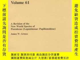 二手書博民逛書店A罕見Revision Of The New World Species Of Psoraleeae (legum
