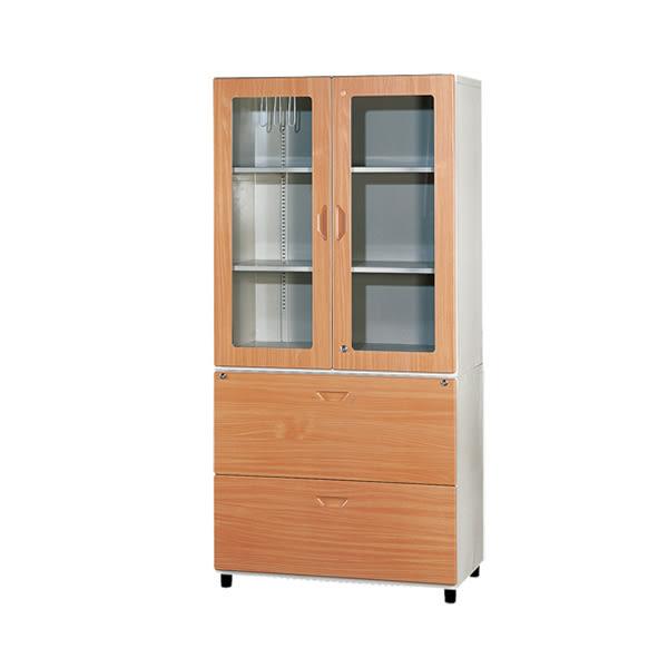 【YUDA】WN-3 鋼木門(三層) 鋼木櫃/鐵櫃 文件櫃/展示櫃/公文櫃