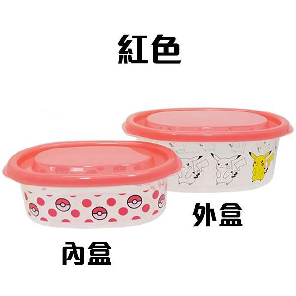 保鮮盒 子母盒 2入 耐熱140度 寶可夢 神奇寶貝 pokemon 日本製 該該貝比日本精品 ☆