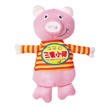 三隻小豬 我的動物玩偶故事書(購潮8)