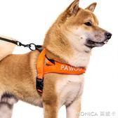 狗狗胸背帶小型中型大型犬牽引繩金毛K9狗帶防爆沖遛狗繩子狗錬子 莫妮卡小屋