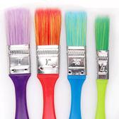【BlueCat】彩色漸層油漆刷4件組 塗鴉彩繪