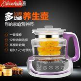 110V訂製多功能漢方玻璃智慧語音養生壺「Chic七色堇」igo