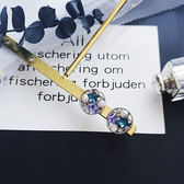 耳環 清新 彩鑽 水晶 星星 鏤空 圓形 耳釘 耳環【DD1805023】 ENTER  05/24