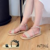 涼鞋 交叉繞踝休閒涼鞋 MA女鞋  T0339