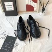 小皮鞋 黑色小皮鞋女學生正韓百搭復古英倫風2019秋季新款平底ins潮學院TB