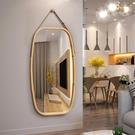 浴鏡 】北歐浴室鏡酒店衛生間壁掛鏡貼墻裝飾鏡子圓鏡穿衣鏡