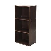 樂嫚妮 三層空櫃/三格展示收納櫃/櫥櫃-台灣製胡桃色
