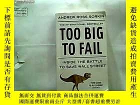 二手書博民逛書店Too罕見Big to Fail Inside the Batt