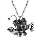 《QBOX 》FASHION 飾品【C21N1938】精緻個性街頭嘻哈燈籠魚鑄造鈦鋼墬子項鍊/掛飾