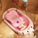 嬰兒摺疊沐浴盆寶寶洗澡盆加大號幼兒童小孩可坐躺通用新生兒用品ATF 安妮塔小舖
