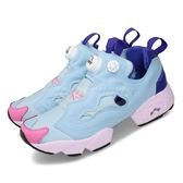 Reebok 休閒鞋 Instapump Fury OG TXT 藍 紫 女鞋 BT21 聯名 MANG 【ACS】 DV9871