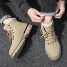 馬丁靴 冬季鞋加絨男士雪地靴男鞋中高幫加厚保暖馬丁靴棉短靴子潮鞋【快速出貨八折鉅惠】
