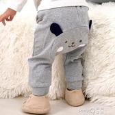寶寶加絨褲子男童女童打底褲外穿加厚冬季褲兒童保暖褲嬰兒大PP褲  (pink Q時尚女裝)