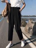 高腰寬褲 胯寬大腿粗闊腿褲女夏季薄款大碼胖mm寬鬆高腰直筒西裝褲子垂墜感 夏季上新