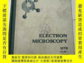 二手書博民逛書店electron罕見microscopy vol.1(H4928