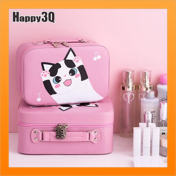 化妝箱化妝包日韓可攜帶隨身攜帶保養品包旅行可愛貓咪附鏡子-多款【AAA4555】預購