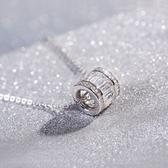 項鍊 925純銀鑲鑽吊墜-氣質簡約生日聖誕節交換禮物女飾品73gj85[時尚巴黎]