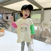 女童洋氣T恤2020春秋新款兒童裝中長款寬鬆長袖上衣網紅寶寶體恤 快速出貨
