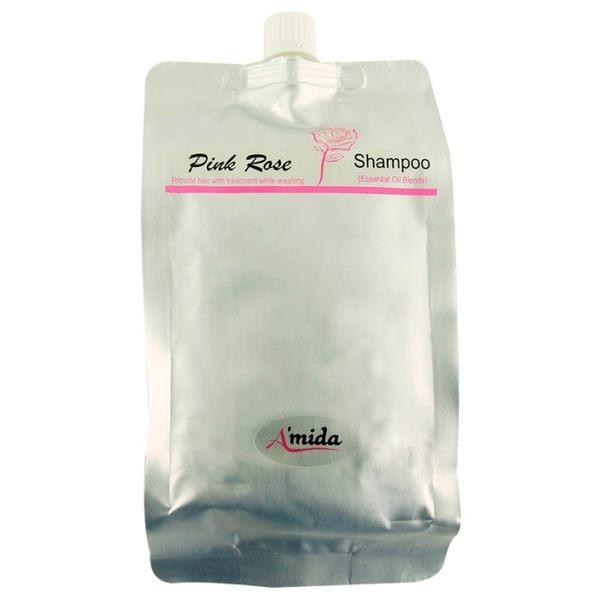 AMIDA粉玫瑰有機洗髮精環保包 1000ML