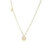 925純銀項鍊+鋯石吊墜-字母H鏤空吊牌女飾品2色74aq27【巴黎精品】