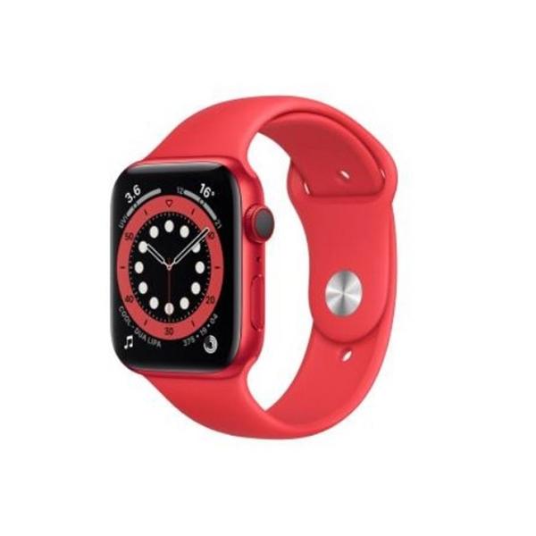【免運費】Apple Watch Series 6 GPS 44mm 鋁紅錶殼+紅色運動錶帶(M00M3TA/A)