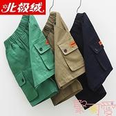 男童短褲外穿夏季工裝五分褲中大童休閒褲【聚可愛】