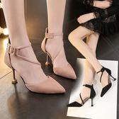 春季韓版百搭時尚貓跟高跟鞋