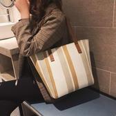 托特包-港風大包包2020春季新款潮手提包韓版帆布包單肩包大容量托特包
