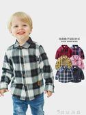 男童長袖格子襯衫純棉秋裝春秋童裝襯衣兒童寶寶寸上衣潮1歲3小童 薔薇時尚