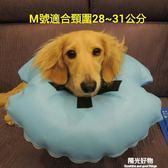 寵物頭套皮貓狗脖套頭罩脖圈脖套保護防舔撓狗項圈 陽光好物