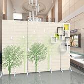 歐式屏風隔斷客廳時尚簡約現代布藝玄關臥室房間簡易折疊行動折屏 xw
