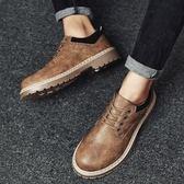 馬丁鞋 正韓新款男士休閒鞋男鞋低幫 馬丁靴子大頭皮鞋英倫潮靴軍靴【店慶八折特惠一天】