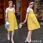 孕婦夏季連衣裙夏裝時尚潮辣媽夏天外出長裙個性洋氣哺乳裙子「安妮塔小鋪」