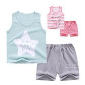 夏日可愛印花無袖上衣+短褲套裝 童裝 T-shirt