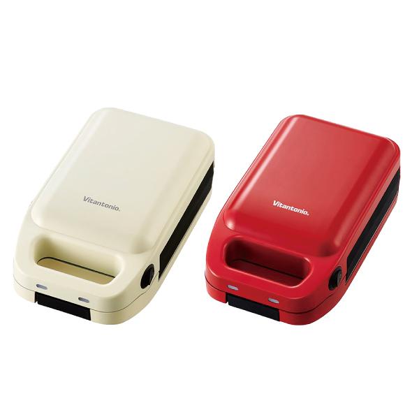 (加贈日本咖啡壺組)Vitantonio 厚燒熱壓三明治機 VHS-10B 番茄紅/雞蛋白(公司貨原廠保固)